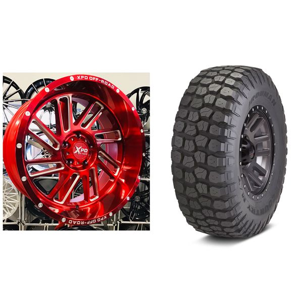 "SET OF 5 New 20"" XPD Offroad CANDY RED Jeep Wrangler 20x10"