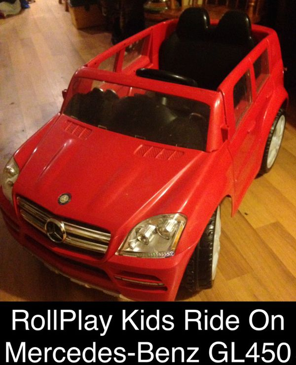 Rollplay Kids Ride On Mercedes Benz Gl450 Battery Ed W Charger