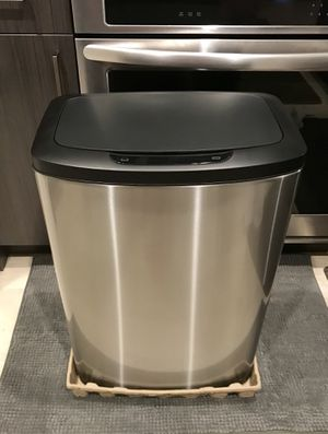 Simple Human Like Stainless Steel Motion Sensor 13-Gallon Trash Can (Brand New: Out of Box) for Sale in Washington, DC