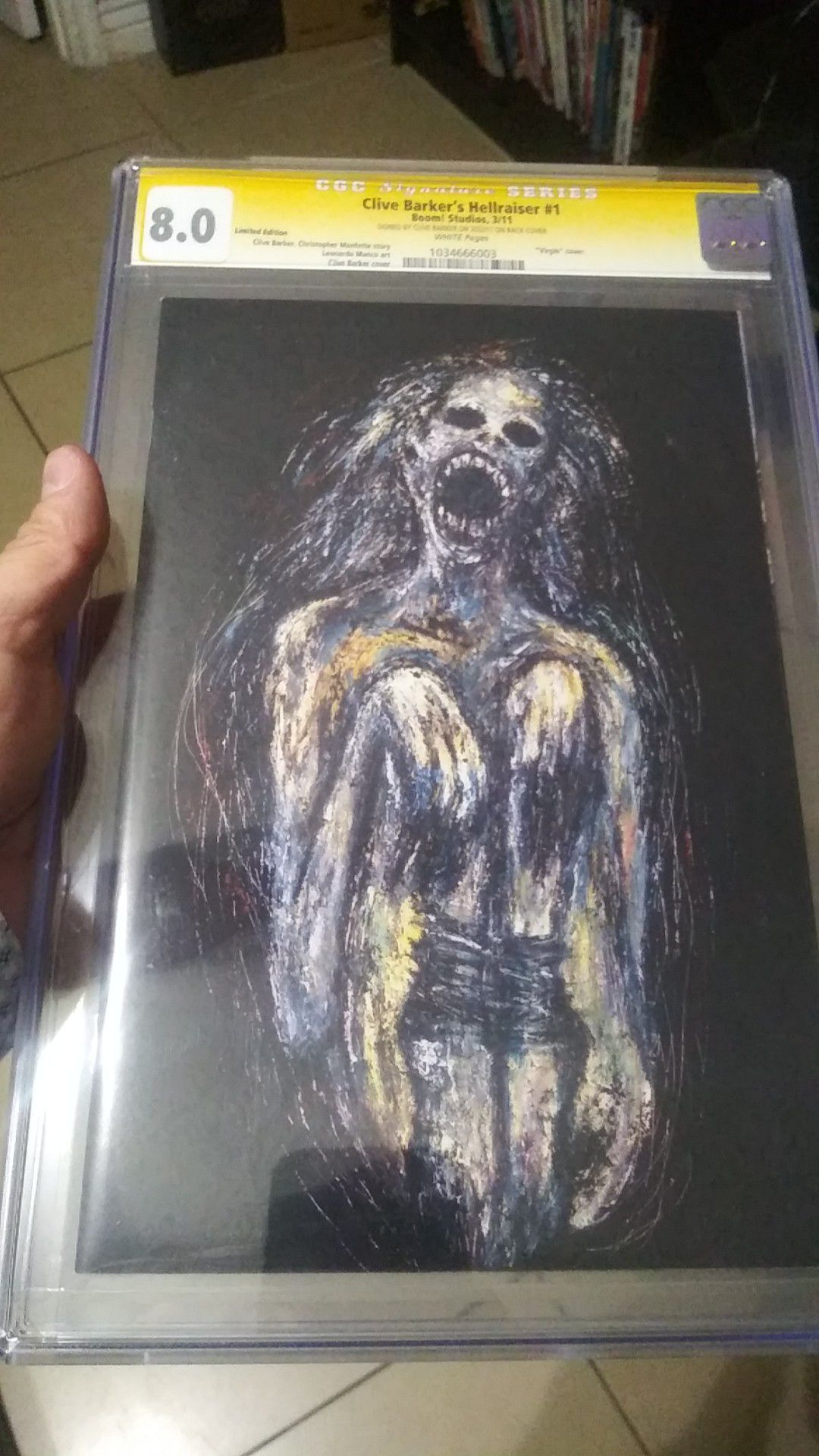 Hellraiser 1 limited edition Clive Barker signed rare comic