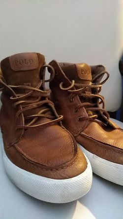 Polo leather high top men's shoes. Size 11 Thumbnail