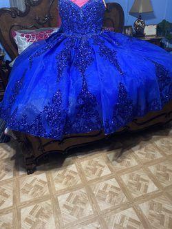 Royal Blue Quinceañera Dress Thumbnail