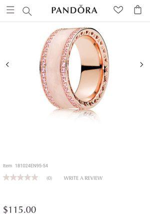 Rose Gold Enameled Pink Stone Pandora Ring in original box for Sale in Detroit, MI