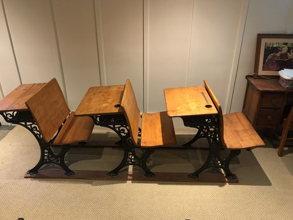 American seating company antique school desk (Antiques) in Seattle, WA -  OfferUp - American Seating Company Antique School Desk (Antiques) In Seattle
