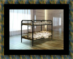 Twin bunk bed frame with mattress for Sale in Oxon Hill, MD