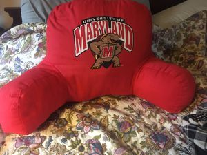 Awesome Red Maryland Terrapins pillow armrest. for Sale in Silver Spring, MD
