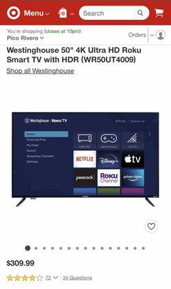 "50"" inch Westinghouse Roku UHDTV 4K  Thumbnail"