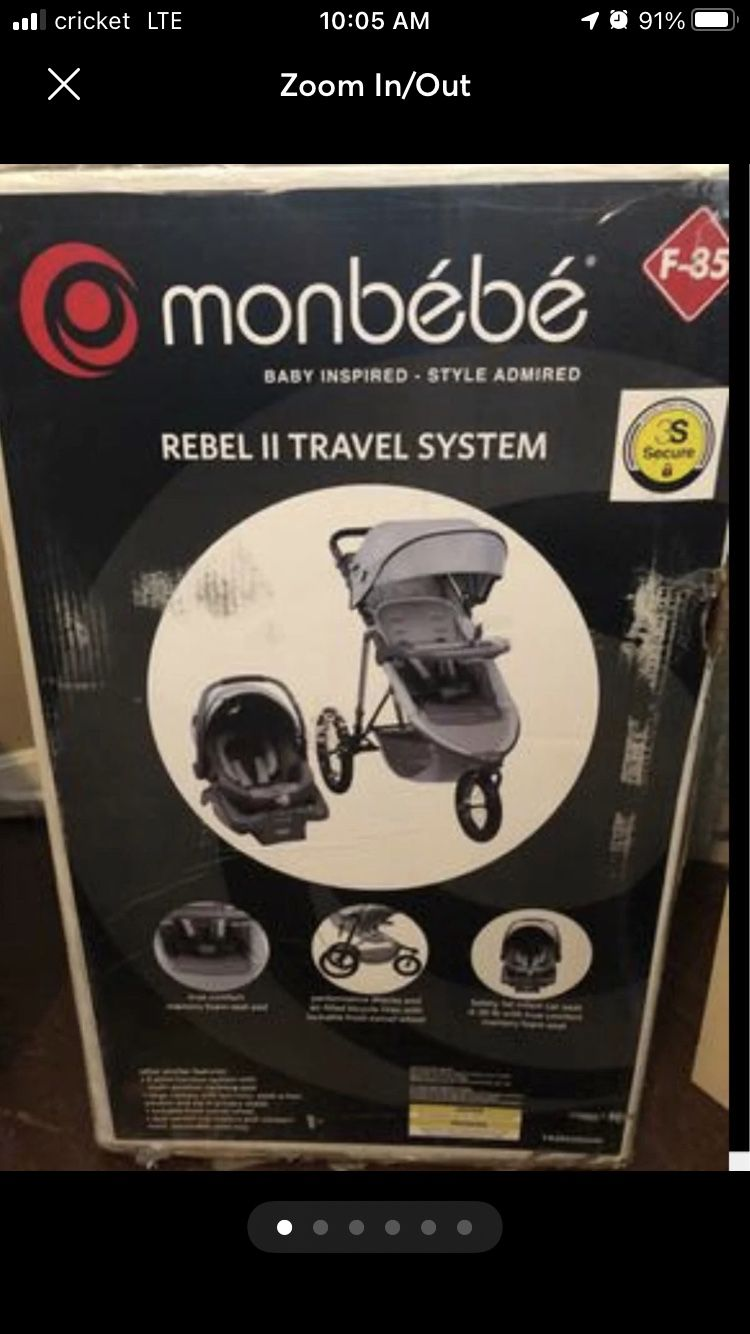 Monbebe Travel Jogging Stroller And Carseat Set