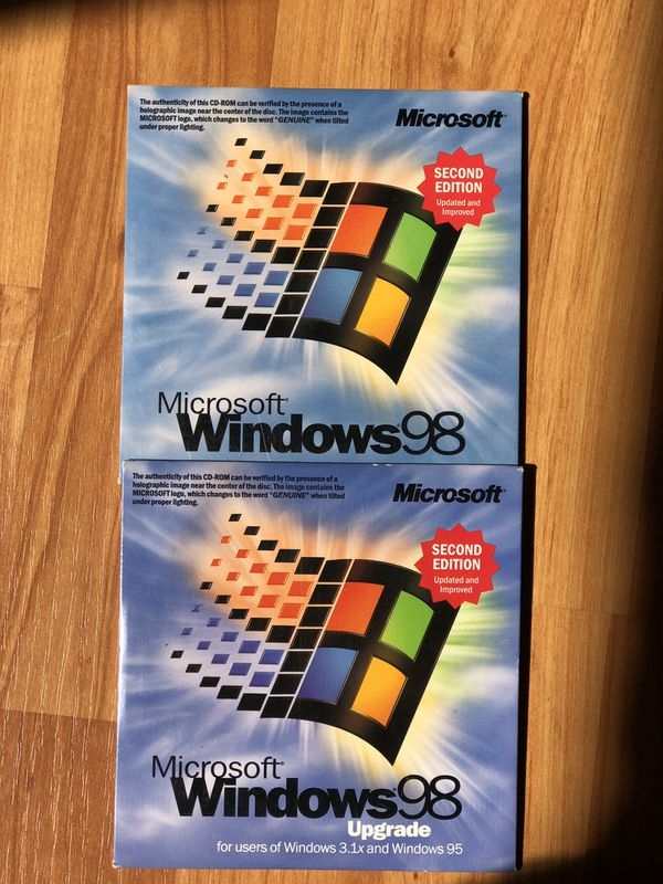 Windows 98 2nd Edition including Upgrade for Sale in Miami, FL - OfferUp