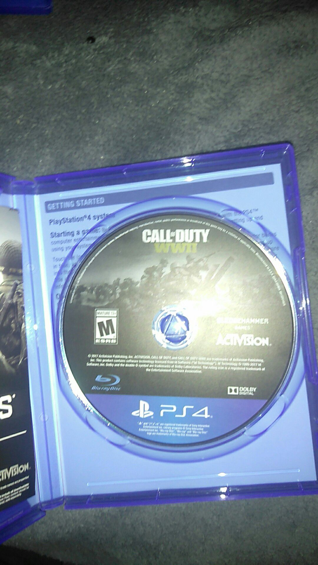 PS4 games (Call of duty WW2,Assassin's Creed syndicate)
