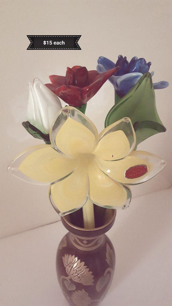 Murano Glass Flowers. Fredericksburg, VA