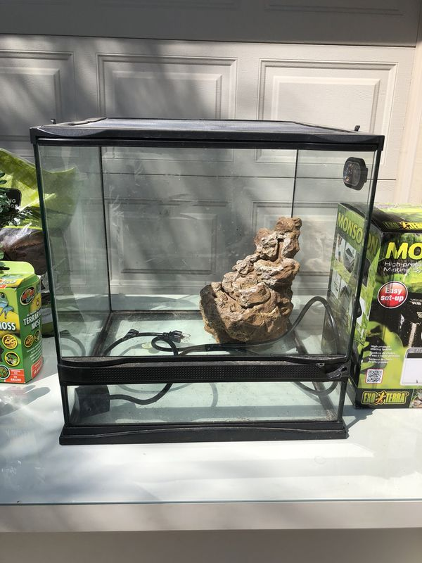 Zoo Med Naturalistic Terrarium Sz X Large With Waterfall And Decor
