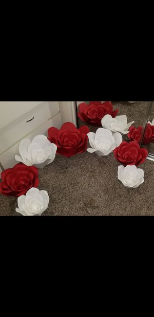 Red and white Paper Flower for Sale in Phoenix, AZ