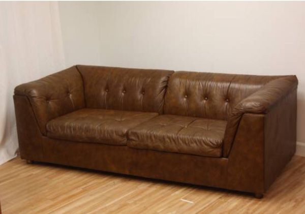 Peachy Vintage Schafer Bros Leather Couch 295 For Sale In Seattle Machost Co Dining Chair Design Ideas Machostcouk