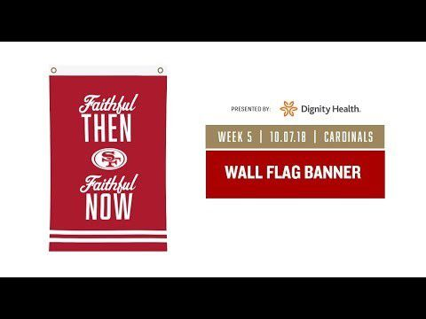 01558c2e 49ERS Faithful Then Faithful Now WALL FLAG BANNER for Sale in Milpitas, CA  - OfferUp