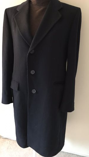 Classic Pierre Cardin Navy Blue 100% Wool Mens coat long jacket Size M for Sale in Alexandria, VA