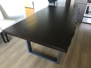 Live Edge Hardwood Dinning Room Table for Sale in Alexandria, VA