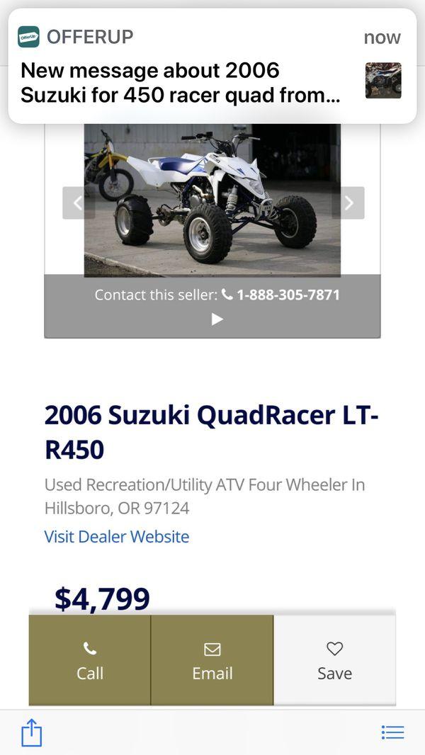 2006 Suzuki For 450 Racer Quad For Sale In Modesto Ca