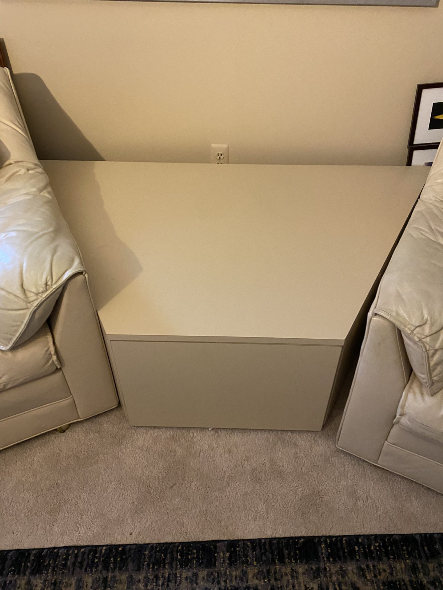 Two Chairs And Center Table