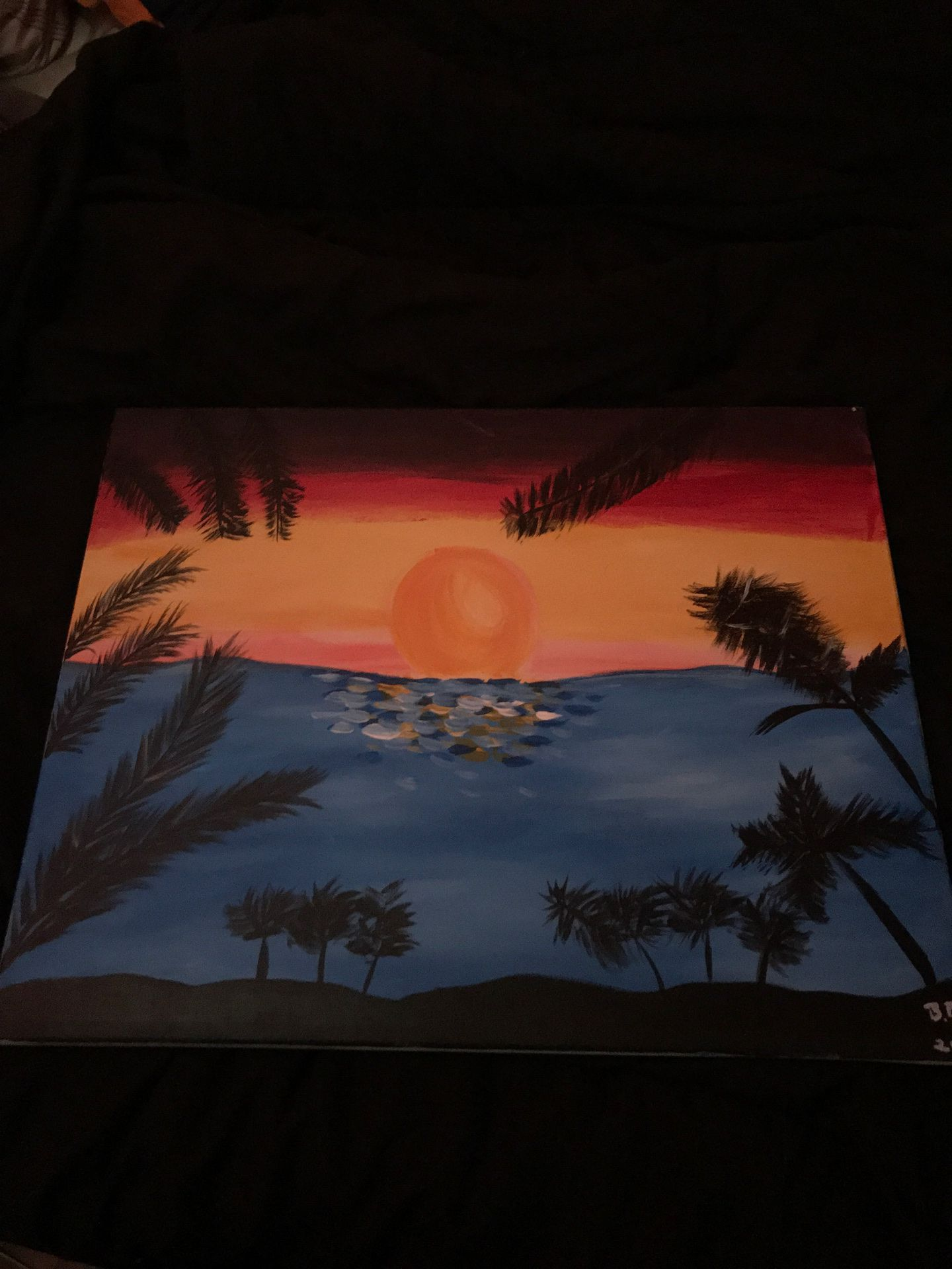 Good sun rise painting