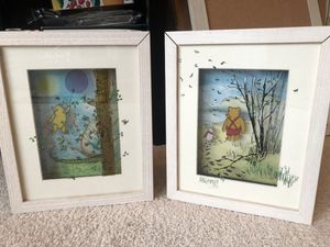 Winnie the Pooh Framed 3 layer Wall Art for Sale in New Market, MD