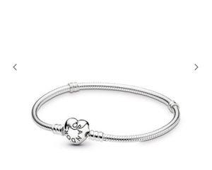 fe03ea58e Grand silver Pandora bracelet heart locket! for Sale in Pompano Beach, FL