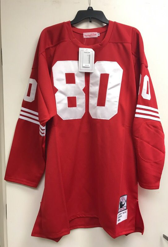 buy popular ac499 41747 Mitchell and Ness throwback NFL Jerry Rice San Francisco 49ers Jersey new  with tags for Sale in Sunrise, FL - OfferUp