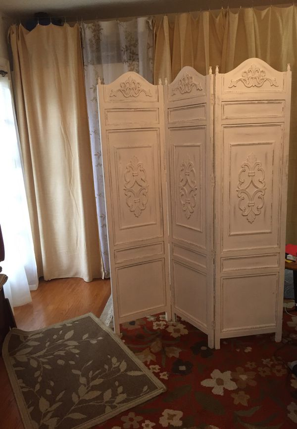Beautiful world market wood distressed room divider for Sale in