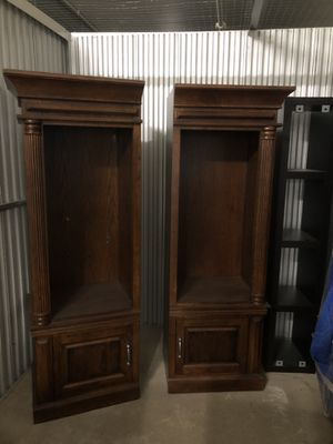 Cherrywood entertainment center with middle insert for Sale in Takoma Park, MD