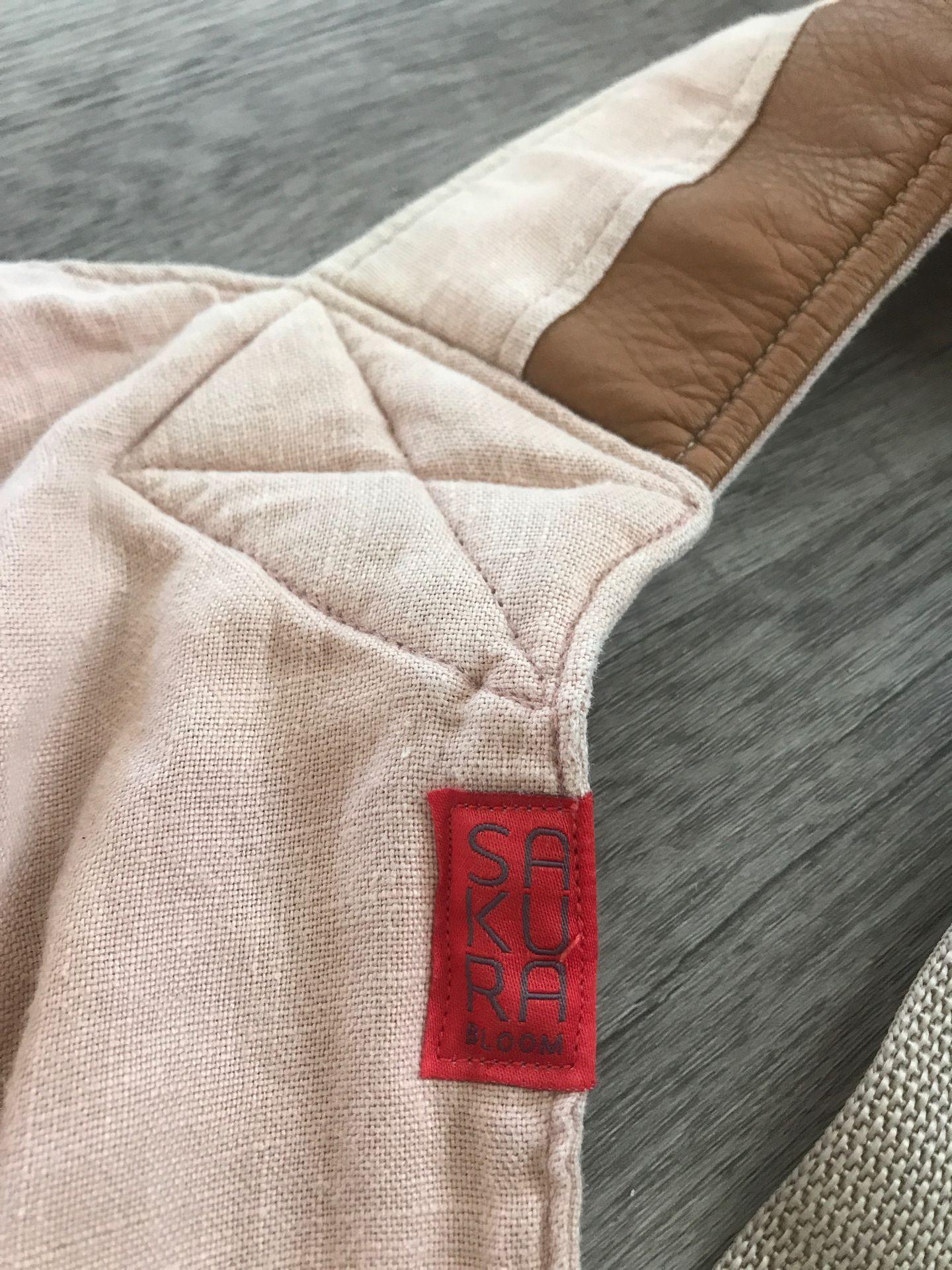 Sakura bloom scout in blush + camel leather