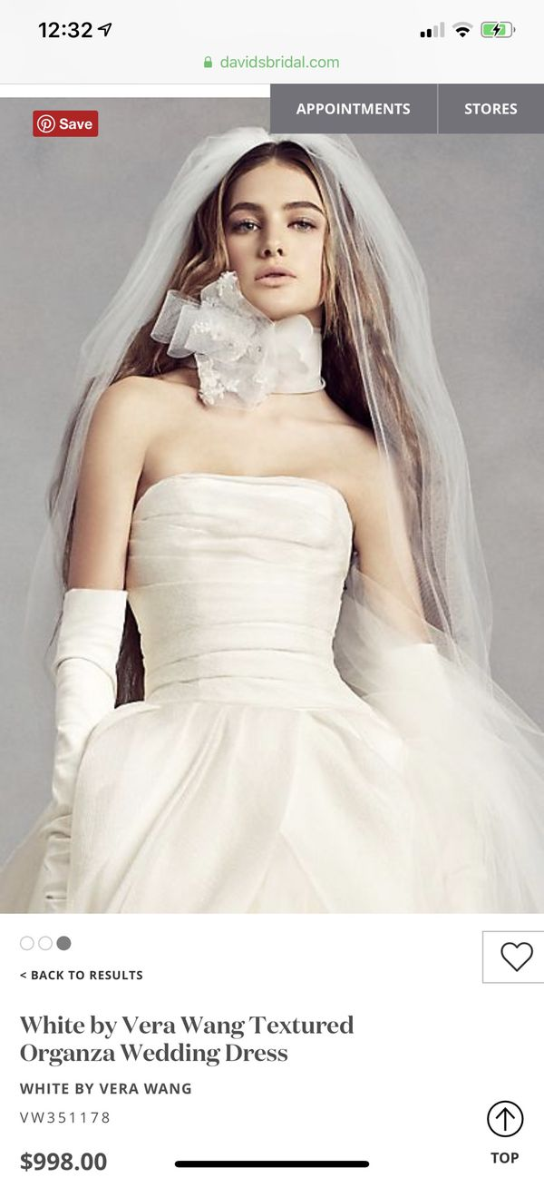 89a0a1a83abd White by Vera Wang Textured Organza Wedding Dress for Sale in Miami ...