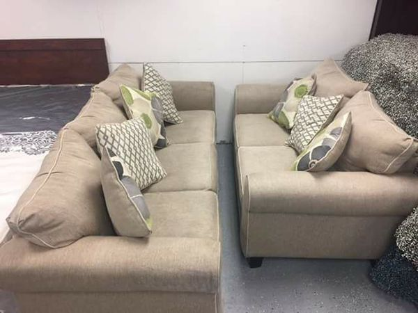 Lilith Pond Taupe 3 Pc Fabric Living Room Set Sofa Bed With Love Seat And Ottoman For In Jacksonville Fl Offerup