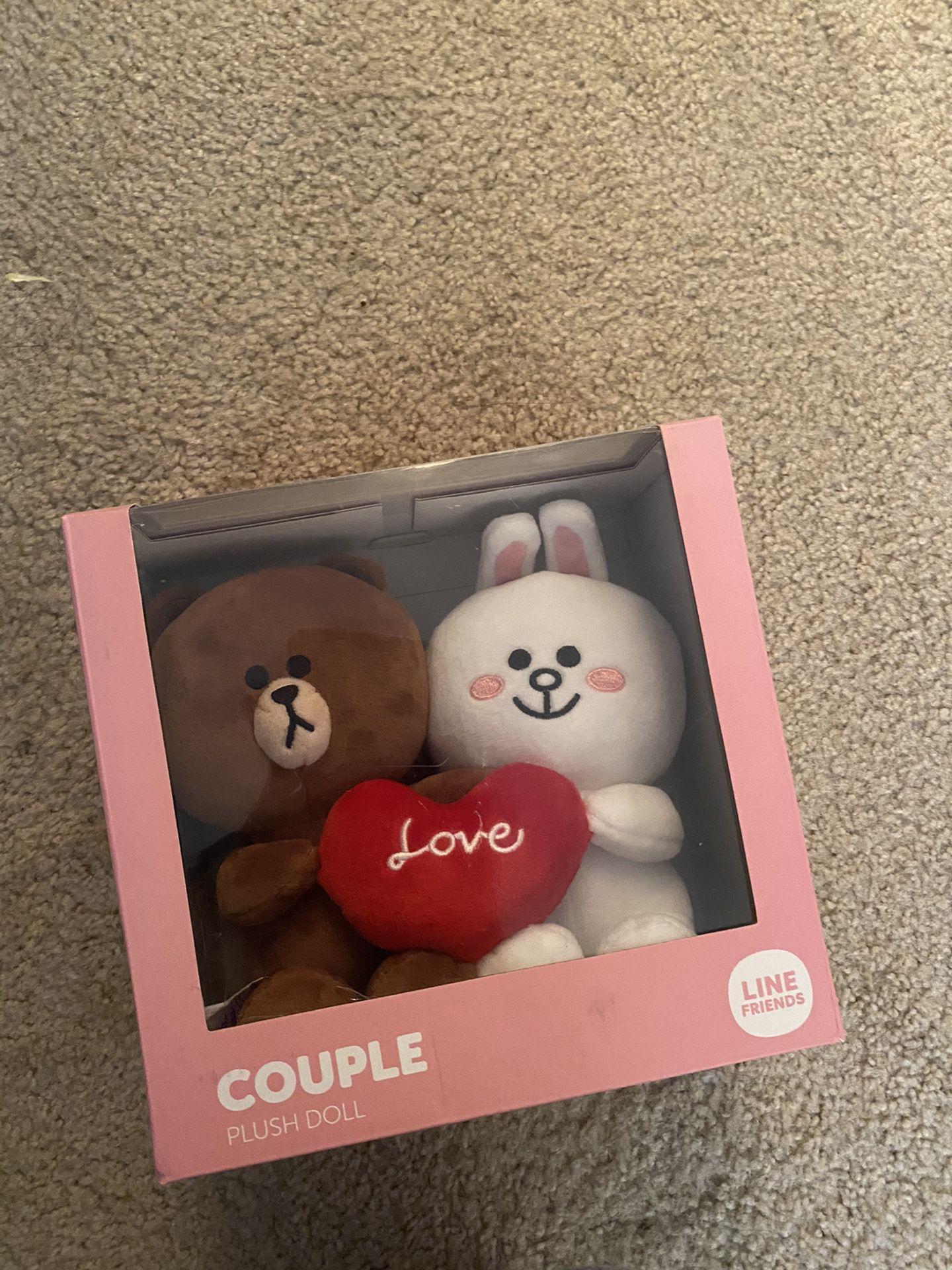 Line Couple Bear