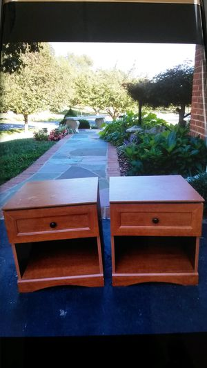 2 solid cherry wood end tables or night stands for Sale in Silver Spring, MD