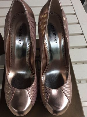 Rose Gold BEBE Shoes ! Size 85 for Sale in Silver Spring, MD