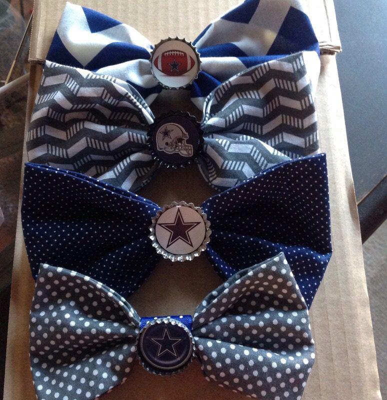 Dallas Cowboys bottle cap fabric bows