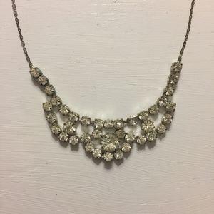 Vintage Diamond Rhinestone Costume Jewelry Necklace for Sale in Austin, TX