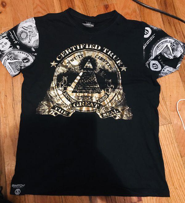 91a8ece64 Switch remarkable medium tee shirt urban black money cash currency. Bronx  ...