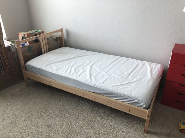 Kids Twin Bed With Ikea Mattress