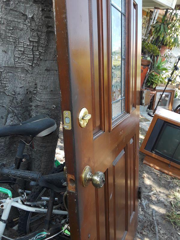 Solid Wood Front Door 36 X 79 Furniture In Long Beach Ca Offerup