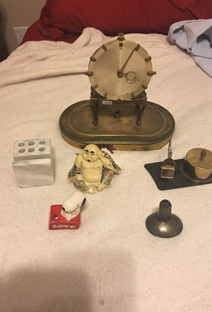 Vintage Antique lot Buddha, Snoopy, Match holder, German Clock for Sale in Houston, TX