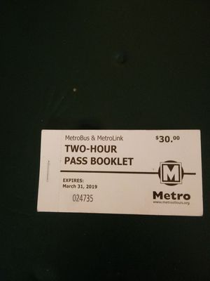 10 ride metro bus tickets for Sale in St. Louis, MO