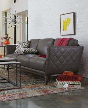 Kourtney Quilted Side Leather Sofa Review Sofa Campbellandkellarteam
