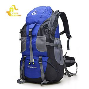 Free Knight Climbing Backpack 50L Waterproof Outdoor Rucksack Cycling Hiking Backpack Trekking Camping Bag Mountain Backpack for Sale in Cabin John, MD