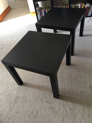 Two black IKEA side tables for Sale in Alexandria, VA