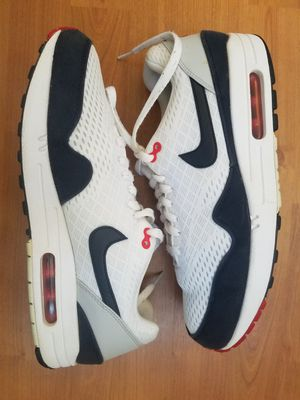 separation shoes 5abfb 1a05e Air Max 1 EM OG 554718-106 WHITE DARK OBSIDIAN mesh Nike Mens 10.5 for Sale  in Maricopa, AZ - OfferUp