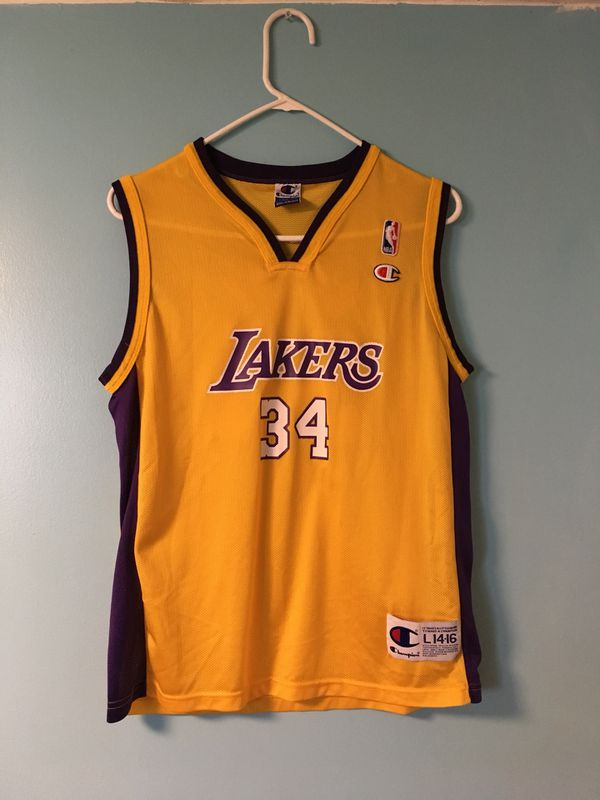 Champion Vintage Shaquille O Neal Jersey Size Youth Large for Sale ... 6743f9ab7