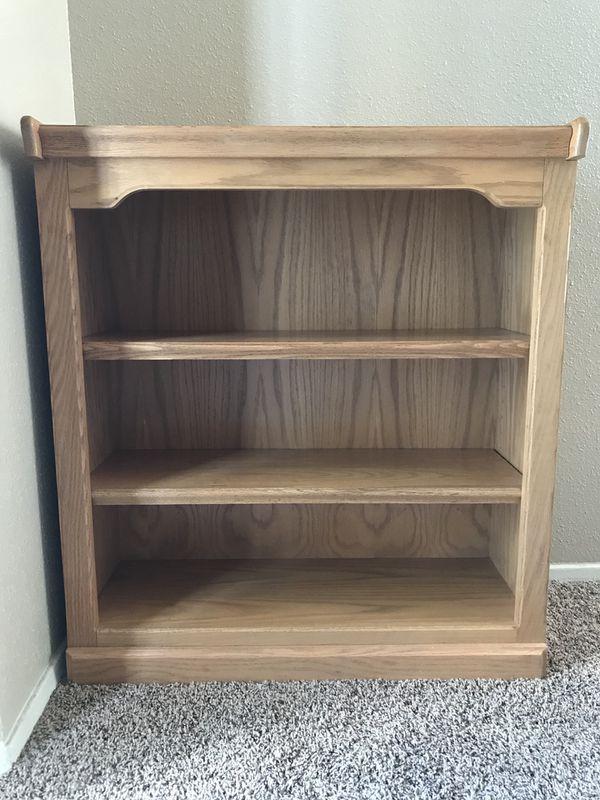 Solid Oak Wood Bookshelf For Sale In San Antonio TX