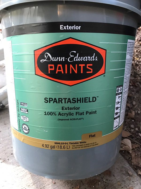 New Dunn Edwards 5 Gallon Spartashield Paint For Sale In