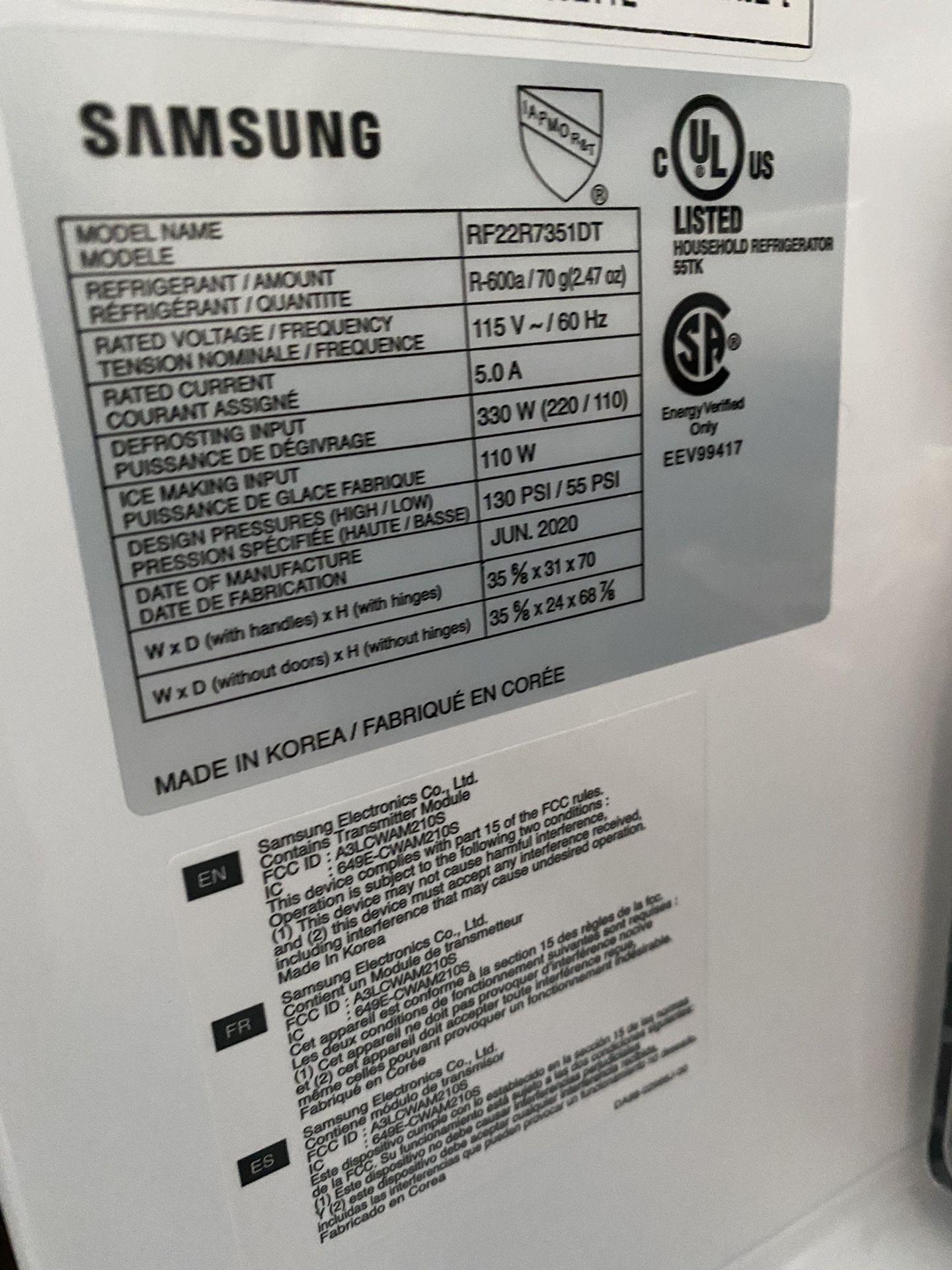 Samsung French Door Refrigerator Open Box